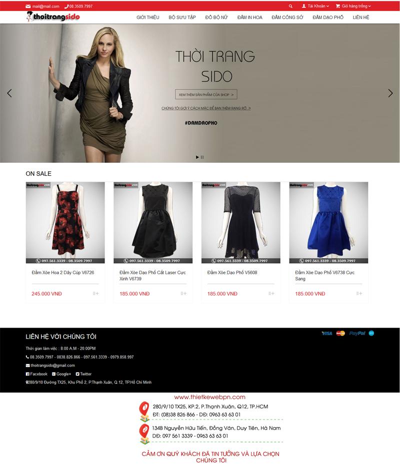 Mẫu web bán hàng thời trang 6