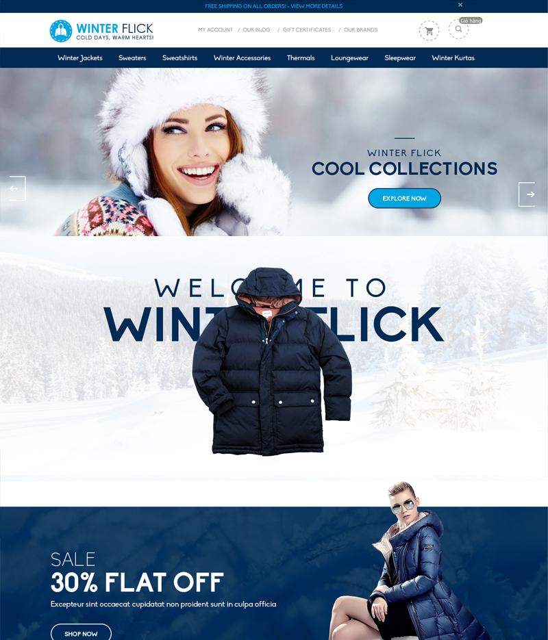 Mẫu web bán hàng thời trang TR02