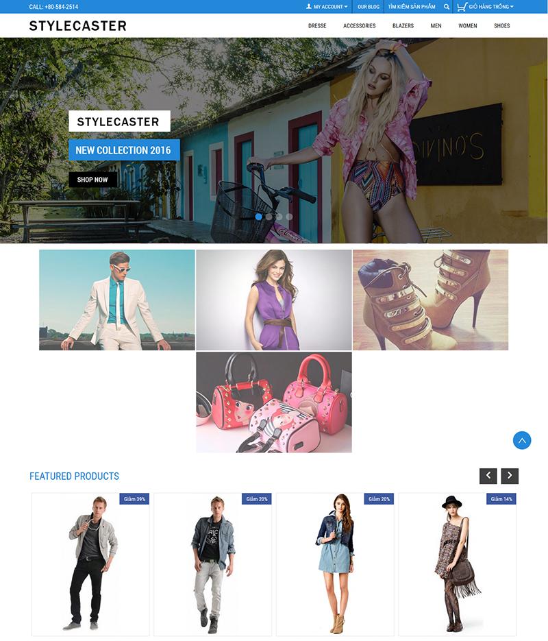 Mẫu web bán hàng thời trang 1
